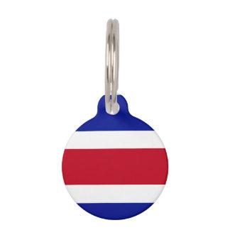 コスタリカの旗 ペット ネームタグ