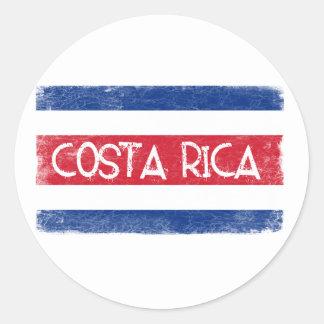 コスタリカの旗 ラウンドシール