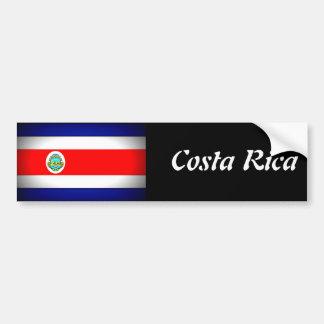 コスタリカの様式化された旗 バンパーステッカー