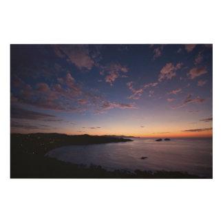 コスタリカの海上の日没 ウッドウォールアート