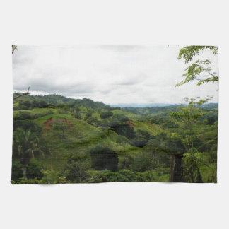コスタリカの熱帯雨林 キッチンタオル