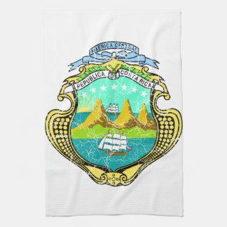 コスタリカの紋章付き外衣 キッチンタオル