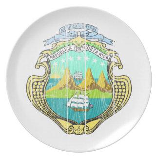 コスタリカの紋章付き外衣 プレート