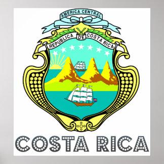 コスタリカの紋章付き外衣 ポスター