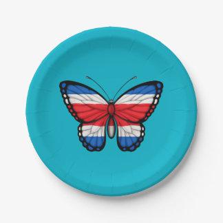 コスタリカの蝶旗 ペーパープレート