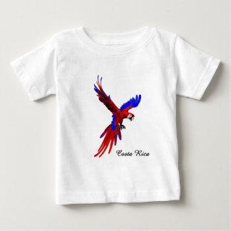 コスタリカの赤のコンゴウインコ ベビーTシャツ