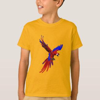 コスタリカの赤のコンゴウインコ Tシャツ
