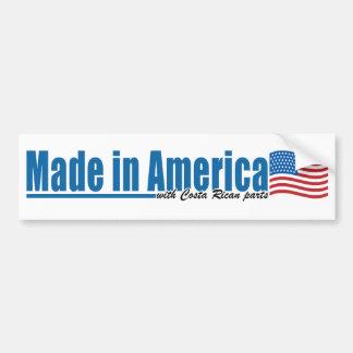 コスタリカの部品が付いているアメリカで作られる バンパーステッカー