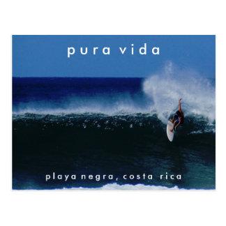 コスタリカの郵便はがきをサーフするPlaya Negra ポストカード
