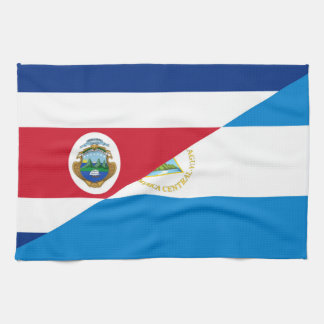 コスタリカニカラグアの半分の旗の記号 キッチンタオル