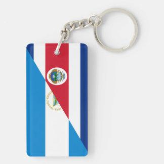 コスタリカニカラグアの半分の旗の記号 キーホルダー