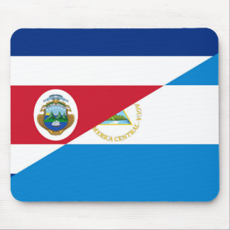 コスタリカニカラグアの半分の旗の記号 マウスパッド