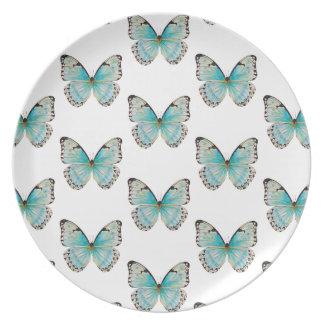コスタリカ中型パターン蝶メラミンプレート プレート