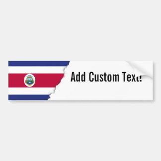 コスタリカ人の旗 バンパーステッカー