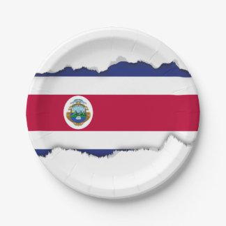 コスタリカ人の旗 ペーパープレート