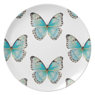 コスタリカ大きいパターン蝶メラミンプレート プレート