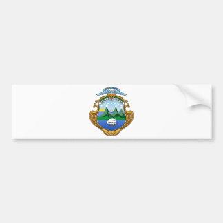 コスタリカ-エスクードdeコスタリカの紋章付き外衣 バンパーステッカー