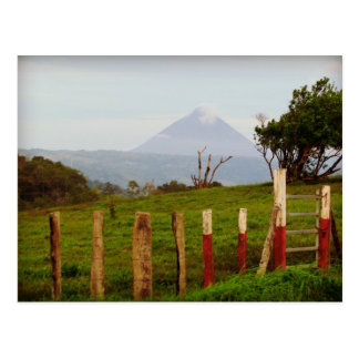 コスタリカArenalの火山記念品 ポストカード