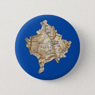 コソボの地図ボタン 5.7CM 丸型バッジ