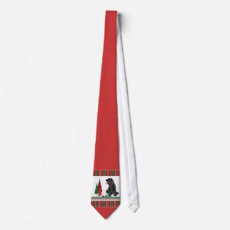 コッカースパニエルのクリスマスのタイ オリジナルネクタイ