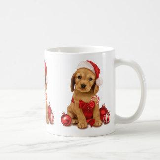 コッカースパニエルのクリスマス コーヒーマグカップ