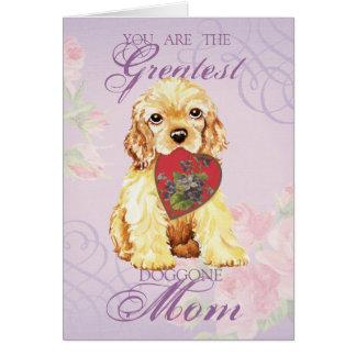 コッカースパニエルのハートのお母さん カード