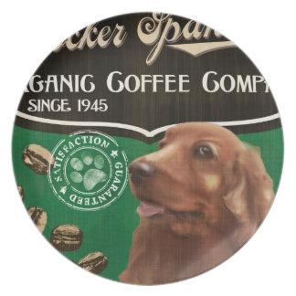 コッカースパニエルのブランド- Organic Coffee Company プレート
