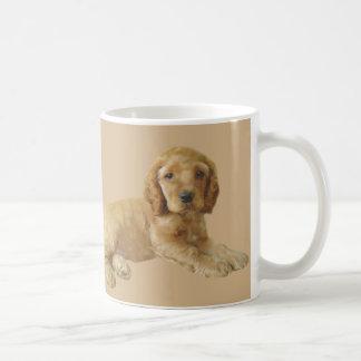 コッカースパニエルの子犬のマグ コーヒーマグカップ