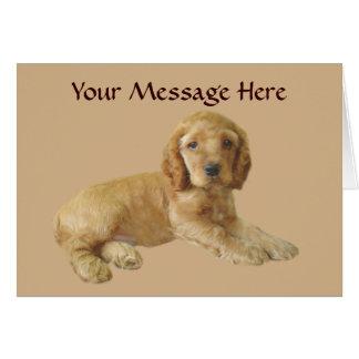コッカースパニエルの子犬の挨拶状 カード