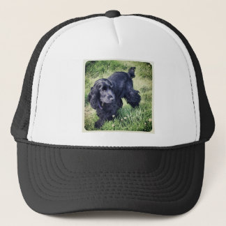 コッカースパニエルの子犬 キャップ