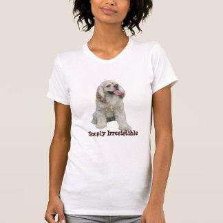 コッカースパニエルの抵抗できない女性ワイシャツ Tシャツ