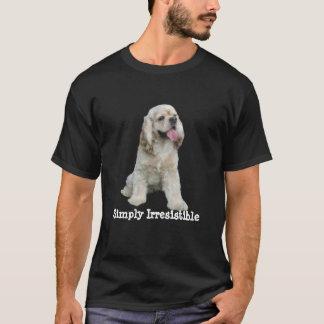コッカースパニエルの抵抗できなくユニセックスなワイシャツ Tシャツ