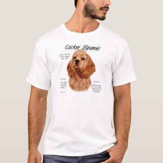 コッカースパニエルの(赤い)歴史のデザイン Tシャツ