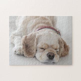 コッカースパニエル犬の睡眠 ジグソーパズル