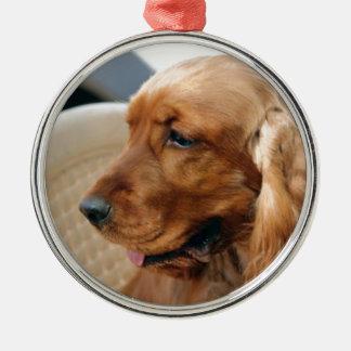コッカースパニエル犬 メタルオーナメント