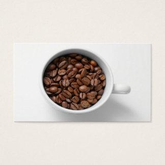 コップの名刺のコーヒー豆 名刺