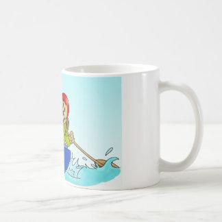 コップ: カヌーの偵察者のビーバー コーヒーマグカップ