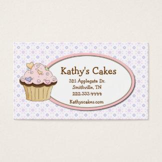 コテージのシックなカップケーキのベーカリーのロイヤリティの名刺 名刺
