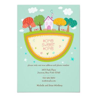 コテージの家の移動発表 カード