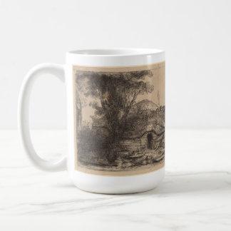 コテージ及び大きい木(レンブラント)との景色 コーヒーマグカップ
