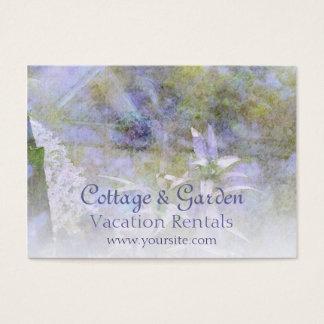 コテージ及び庭の休暇のレンタルの名刺 名刺