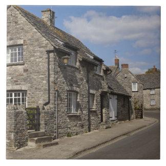 コテージ、Corfeの城の村、ドーセット、イギリス、 タイル