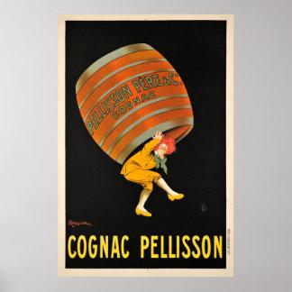 コニャックのPellissonの飲料のバレルのヴィンテージポスター ポスター