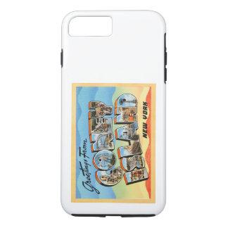 コニーアイランドのニューヨークNYのヴィンテージ旅行郵便はがき- iPhone 8 PLUS/7 PLUSケース