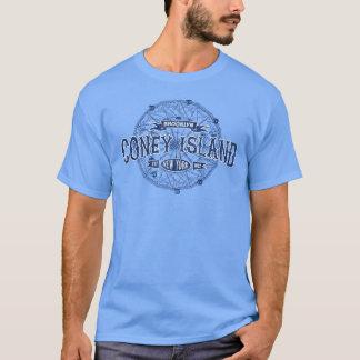 コニーアイランドのブルックリンニューヨークのレトロアメリカ Tシャツ