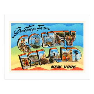 コニーアイランド#2ニューヨークNY古い旅行記念品 ポストカード