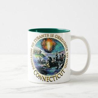 コネチカットのお茶会のマグ ツートーンマグカップ