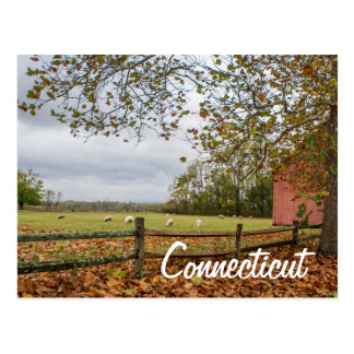 コネチカットの国の農場の郵便はがき ポストカード