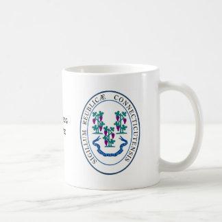 コネチカットの州のシールおよびモットー コーヒーマグカップ