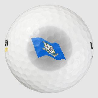 コネチカットの旗のロゴ ゴルフボール